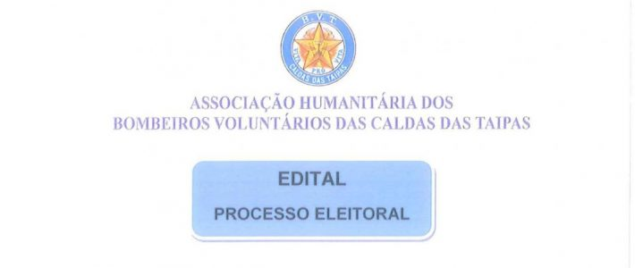 EDITAL – PROCESSO ELEITORAL